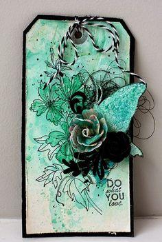 Magenta: Un tag à l'aquarelle / A watercolor tag