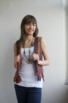 Free Shipping Handmade MultiColor Mohair Vest Sweater Mothers Day gift Under50. $49.00, via Etsy.