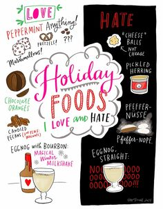 A CUP OF JO: Which holiday foods do you love and hate? (Illustration by Emily McDowell)