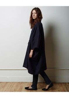 La Garçonne Moderne No. 4/ Portrait Wool Cape Coat