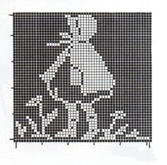 Cross stitch pattern, girl.