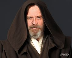 Mark Hamill appeared yesterday at the Golden Heart Gala in Los Angeles sporting a full beard and long hair. Since they are filming now, I think it's safe to say that this is how he looks on the new Star Wars Episode VII by J.J. Abrams. So I photoshopped his face on top of Obi Wan to get Master Skywalker.<<<cool! I am getting SO excited for this...