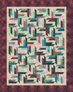 Spangled designed by Cozy Quilt Designs. Features Artisan Batiks: Regal by Lunn Studios, shipping to stores March 2016. Roll up friendly! #artisanbatiks