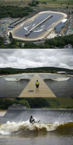 COOL SUMMER FUN - AMAZING HUGE SURFING POOL IN WALES - LARGE WAVE CREATOR! - WOW
