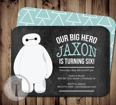 Big Here birthday invitations from Etsy. Great for little fans.