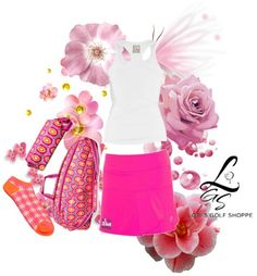 A chic sporty look on the tennis court! Only at lorisgolfshoppe.polyvore.com #tennis #ootd #lorisgolfshoppe