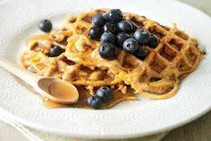 Sweet Potato Waffles With Fresh Fruit Recipe | I love my food