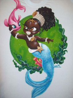 Founded on August 2014 for you that is Umbanda root and true (a). Black Girl Art, Black Women Art, Black Art, Art Girl, Mermaid Beach, Black Mermaid, Mermaid Art, Fantasy Mermaids, Mermaids And Mermen