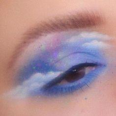 aesthetic makeup looks baby blue aesthetic , aesth - aestheticmakeup Makeup Eye Looks, Eye Makeup Art, Smokey Eye Makeup, Cute Makeup, Pretty Makeup, Skin Makeup, Makeup Inspo, Eyeshadow Makeup, Makeup Inspiration