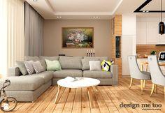 GRAZIOSO APARTAMENTY - Średni salon z kuchnią z jadalnią, styl nowoczesny - zdjęcie od design me too