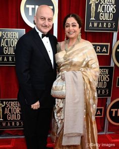 Anupam Kher and Kirron Kher Inspiring Real Life Couples of Bollywood Bollywood Couples, Bollywood Actors, Bollywood Celebrities, Bollywood Fashion, Indian Attire, Indian Wear, Indian Outfits, Indian Clothes, Fancy Blouse Designs
