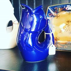 Blue Mini Gurgle Pot  #32usd #inselly #buylocal #buymystuff #buynow #buyme #drink #china #party #partyhost #guests #visiting #boutiques #boutique #gurglepot #fish #ocean
