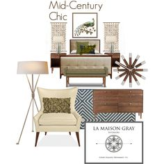 Mid-Century Chic by lamaisongray on Polyvore