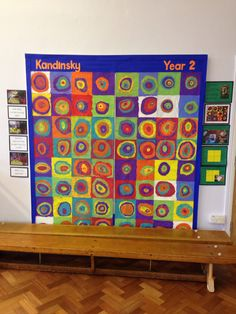Wassily Kandinsky Project- Concentric rings. Very easy to do and makes an excellent display!