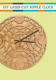 This artistic Laser-Cut Ripple Clock will look great in any room of your home. Show off your DIY skills with this home decor project.