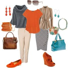 Tangerine Tango Weekend to Workday, created by bekzilla on Polyvore, I saw this product on TV and have already lost 24 pounds! http://weightpage222.com