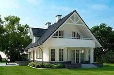 Image may contain: house, sky and outdoor Modern Bungalow Exterior, Modern Bungalow House, Modern House Design, My House Plans, Small House Plans, House Floor Plans, Home Building Design, Building A House, Style At Home