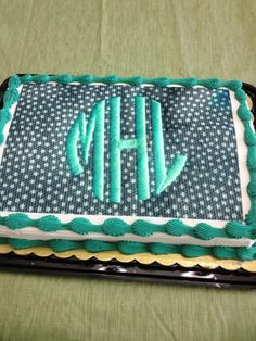 Monogrammed Cake For MY BIRTHDAY Food Pinterest Monogram - Monogram birthday cakes