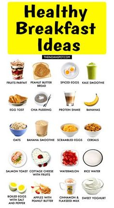 Diet Plans 20 BEST FOODS FOR BREAKFAST - Breakfast is the very first meal of the day it ought to be healthy since it gets absorbed the most by our body. After a night of starvation, our body is vulnerable to absorb the first meal of the day Healthy Meal Prep, Healthy Weight, Healthy Snacks, Healthy Recipes, Healthy Low Calorie Breakfast, Healthy Diet Plans, Nutrition Plans, List Of Healthy Foods, Healthy Workout Meals