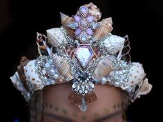 Diamond heart crown by chelseasflowercrowns on Etsy                                                                                                                                                                                 Mais