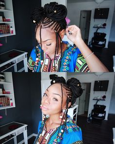 Looking for braid and cornrow inspiration for your next hairstyle Look no further than these 43 Fulani inspired braids and cornrows styles If you liked this pin, click now for more details. Black Girls Hairstyles, African Hairstyles, Braided Hairstyles, Protective Hairstyles, Long Hairstyles, Black Girl Braids, Girls Braids, Curly Hair Styles, Natural Hair Styles