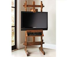 Easel Tv Stand From Napa Style You Could Hang A Painting Over It To Hide The
