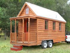 Tiny house or luxury recreation vehicle? Ideal for glamping either way :)