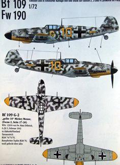 "Bf 109 G2 - ""Gelbe 10+Mickey Mouse"" - 6./JG 5 - Pilotato dal Felwebel Hans Doebricht, Alakurtti, Finlandia, 1943"