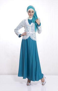 Gamis pesta jasmine turkis yang trendy...look it here http://gamispesta.net/baju-pesta-muslim-jasmine-turkis.html