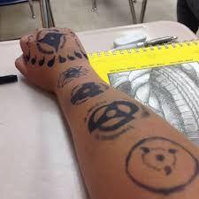 Znalezione obrazy dla zapytania kamui tattoo kakashi ms