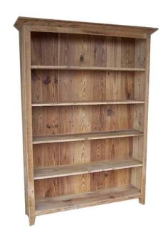 Amish Reclaimed Barnwood Double Bookshelf A rustic look to house your book collection! Made with authentic reclaimed barnwood. #bookcase #reclaimedfurniture