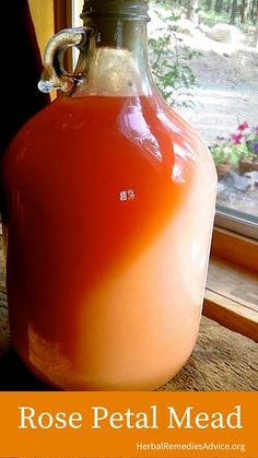 Wild Rose Petal Mead Recipe - I may try this one excepting her sterile (or at least very clean) process, Beltane, Mead Wine, Mead Recipe, How To Make Mead, Homemade Liquor, In Vino Veritas, Wine Making, Making Mead, Wine And Beer
