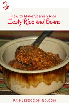 How to Make Spanish Rice Other Recipes, Rice Recipes, Spanish Rice Recipe, How To Cook Everything, Best Side Dishes, Learn To Cook, Easy Cooking, Soup And Salad, Good Food