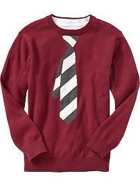 Boys Graphic Crew-Neck Sweaters
