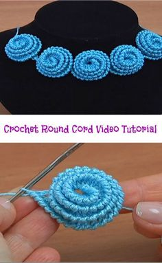 Hi crochet lovers around the world! It is always amusing and funny to learn how to make different crochet cords. With this crochet cord video tutorial you are going to learn how to make crochet round cord. The video tutorial is well-detailed and we h Crochet Cord, Freeform Crochet, Crochet Motif, Irish Crochet, Crochet Lace, Crochet Stitches, Crochet Collar, Crochet Pillow, Crochet Beanie