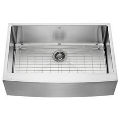 VIGO 33-in x 22.25-in Single-Basin Stainless Steel Apron Front/Farmhouse 1-Hole Commercial/Residential Kitchen Sink