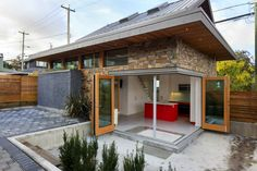Efficient SIP Laneway House Pops Up in an Unused Urban Backyard in Vancouver | Inhabitat - Sustainable Design Innovation, Eco Architecture, Green Building Tiny House Design, Modern Tiny House, Tiny House Living, Modern Cottage, Cottage House, Cottage Living, Small Houses, Little Houses, Energy Efficient Homes