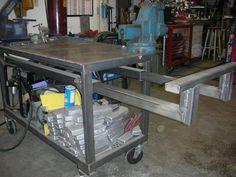 STICK #WELDING PROJECTS Welding Bench, Welding Cart, Welding Shop, Welding Jobs, Diy Welding, Metal Welding, Welding Design, Metal Projects, Welding Projects