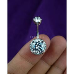 silver belly ring 14g clear gem ($12) ❤ liked on Polyvore featuring jewelry, belly button rings jewelry, clear crystal jewelry, clear jewelry, belly rings jewelry and gemstone jewellery