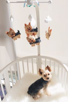 Yorkie Mobile Yorkshire Terrier Mobile Custom by TayloredWhimsy