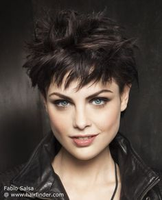 Short Hairstyle with Spikes