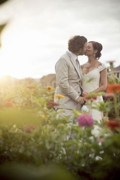 A stolen moment in the garden Photograph by Ashley Davis Photography  http://www.storyboardwedding.com/gorgeous-eco-friendly-country-chic-outdoor-colorado-wedding-at-lyons-farmette/