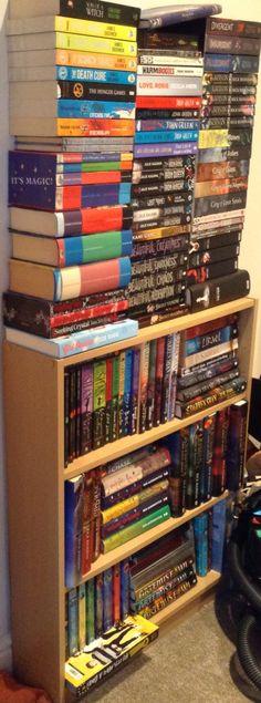 Bookshelf is a little full me thinks....