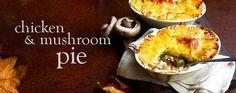Chicken and mushroom pies - Recipes - Slimming World