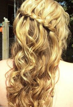Prom hairstyle # super cute