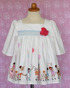 Smocked top for girls smocking  size 6yrs  7yrs by ErphaAhdayani
