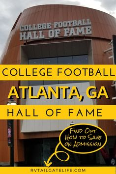 Take a tour of the College Football Hall of Fame on your next visit to Atlanta, GA. Find out how to save money on admission to the Hall!