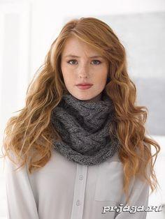 Вязание спицами шарф снуд