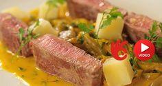 Pštrosí steak se šafránovou omáčkou a houbami