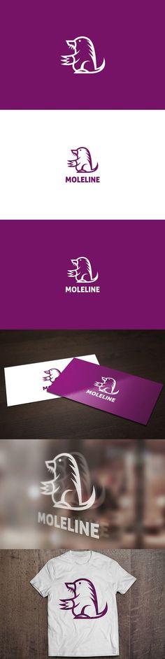 Mole Line Logo. Logo Templates